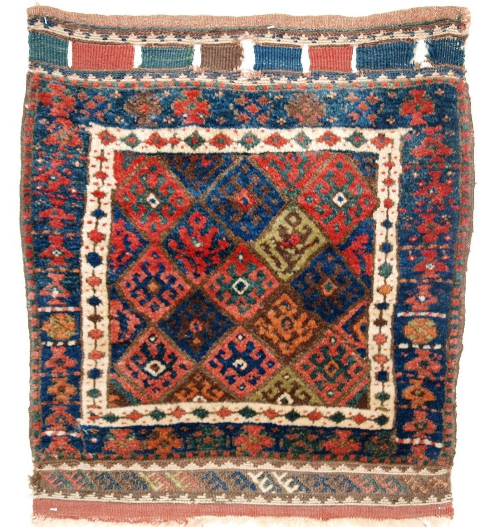 antique north persian jaf kurd bag face thick pile and good colour circa 1900