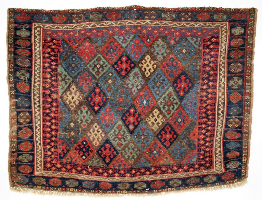 antique north persian jaf kurd bag face of large size circa 1900