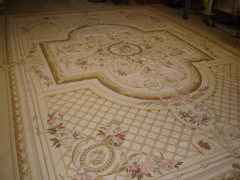 19th century style french aubusson modern reproduction of very large size about 15 years old