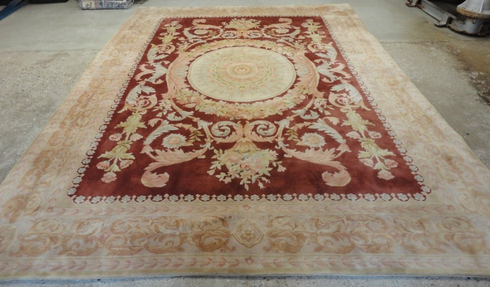chinese carpet in classical french aubusson style perfect condition 30 years old