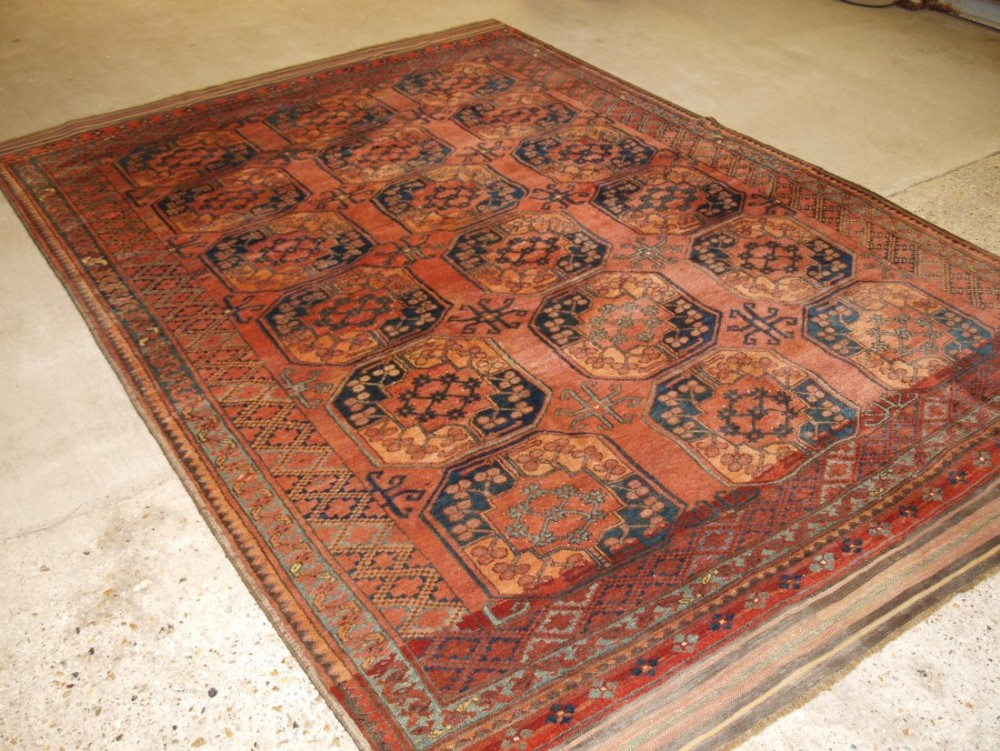 antique ersari turkmen afghan village carpet very soft colour superb condition circa 1900