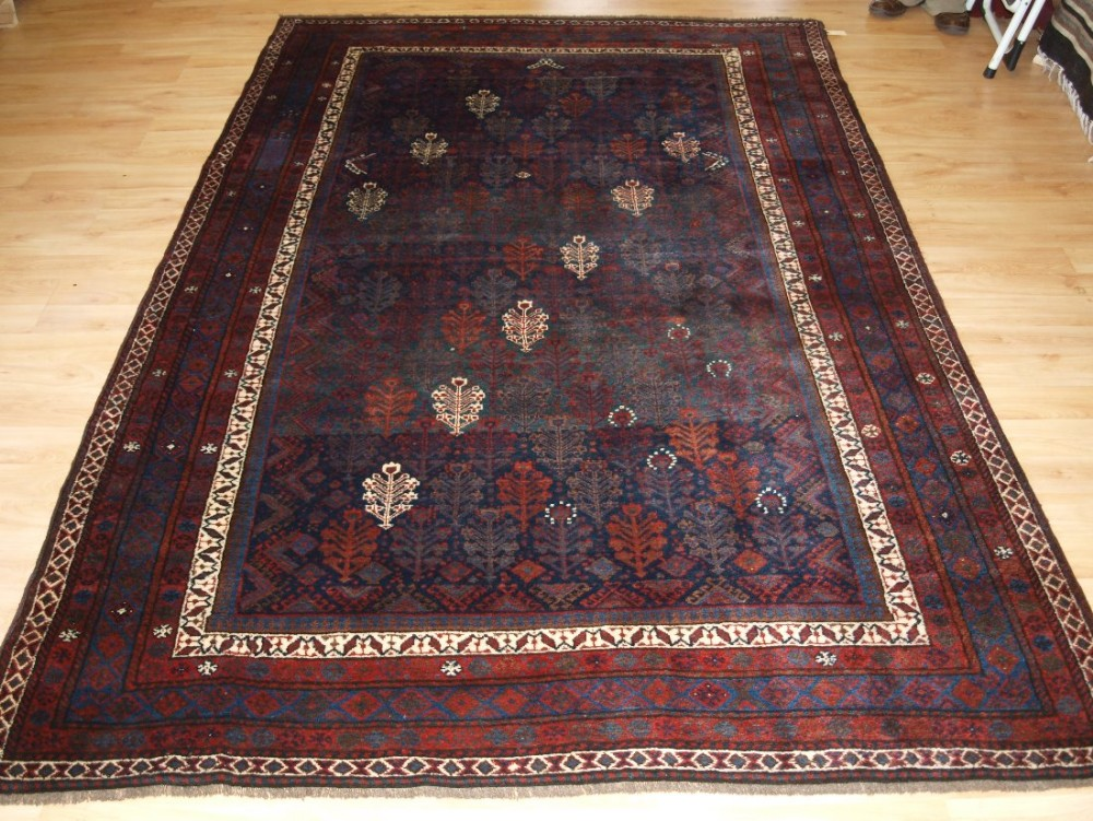 antique north persian kurdish rug with all over shrub design outstanding condition late 19th century