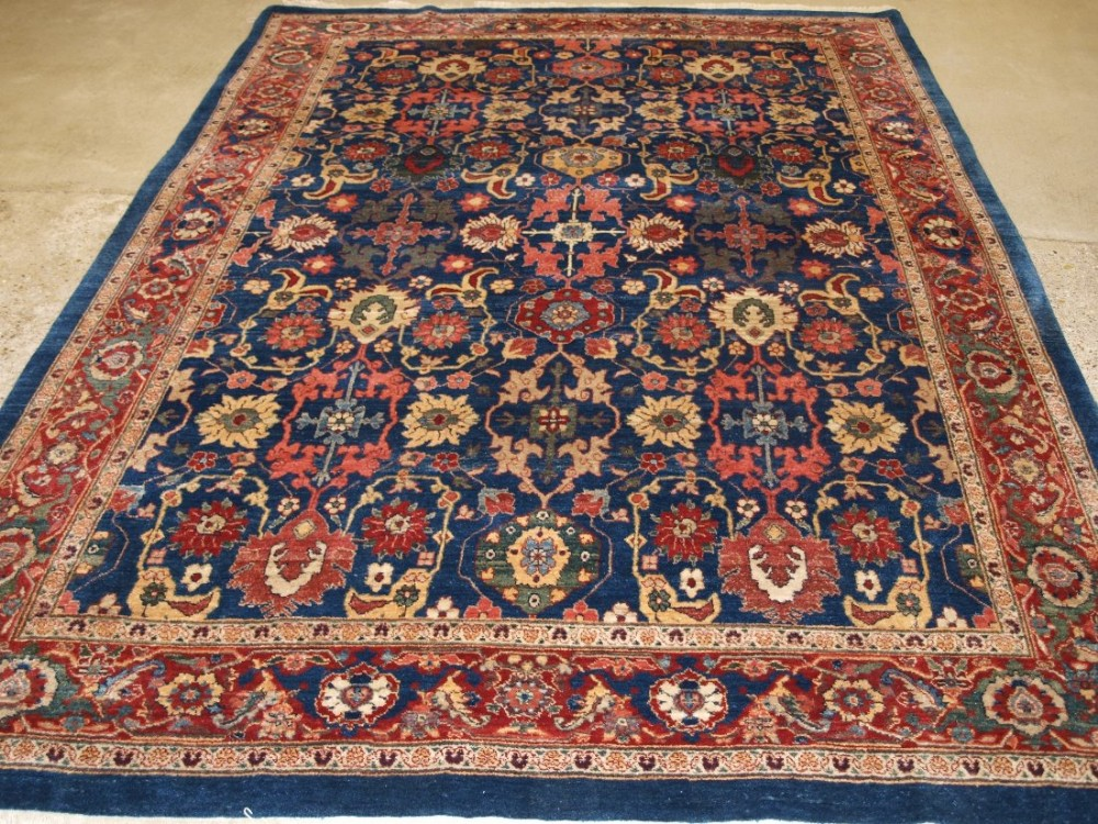 old persian bijar carpet 19th century design natural dyes and superb wool recent production