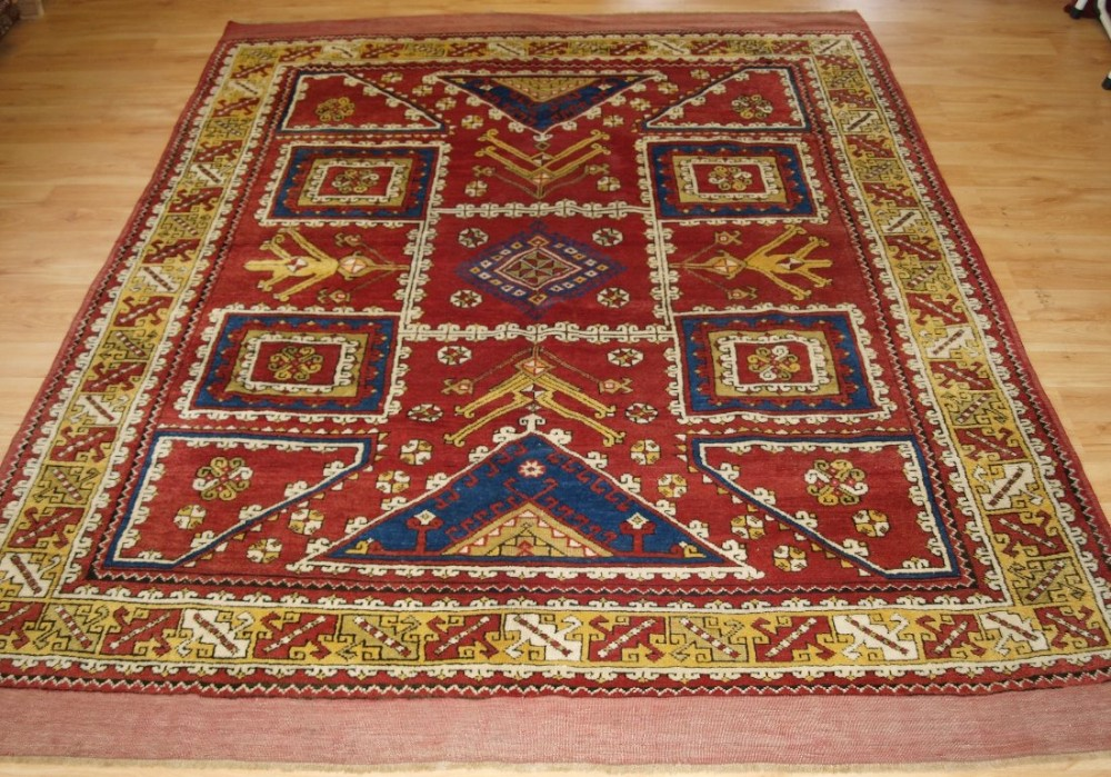 antique turkish bergama region rug excellent colour including a good yellow circa 1900