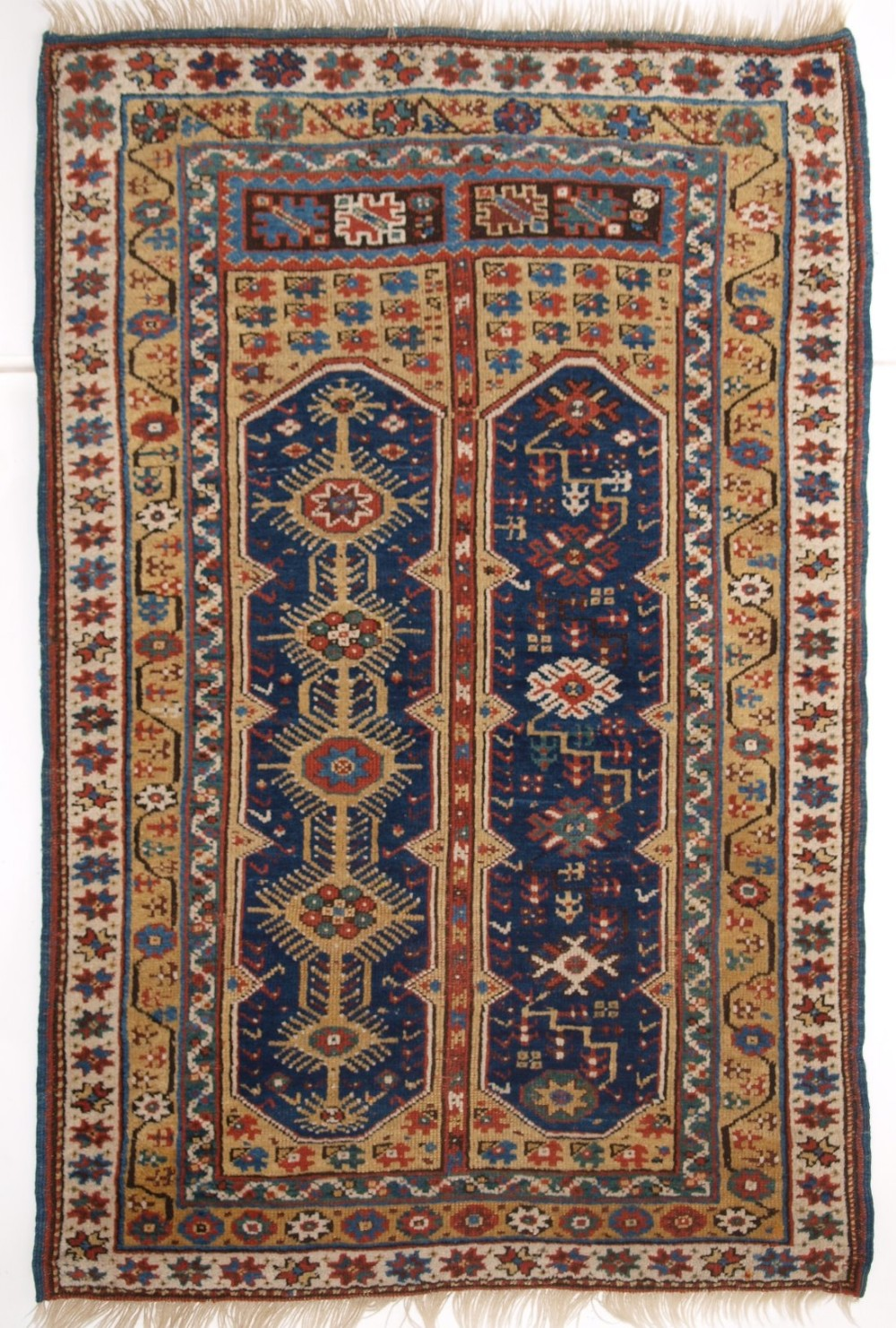 antique turkish megri prayer rug rare yellow ground mid 19th century