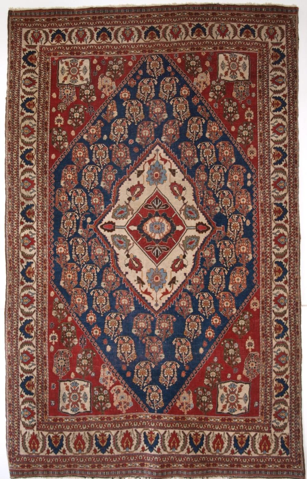 antique persian tribal qashqai kashkuli rug tribal weaving of the highest quality circa 1880