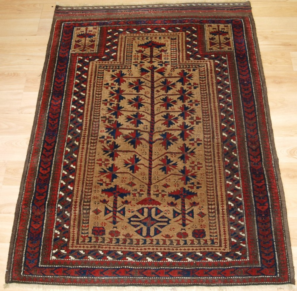 Prayer Rug Company: Antique Persian Baluch Prayer Rug, 'sarakhs' Baluch