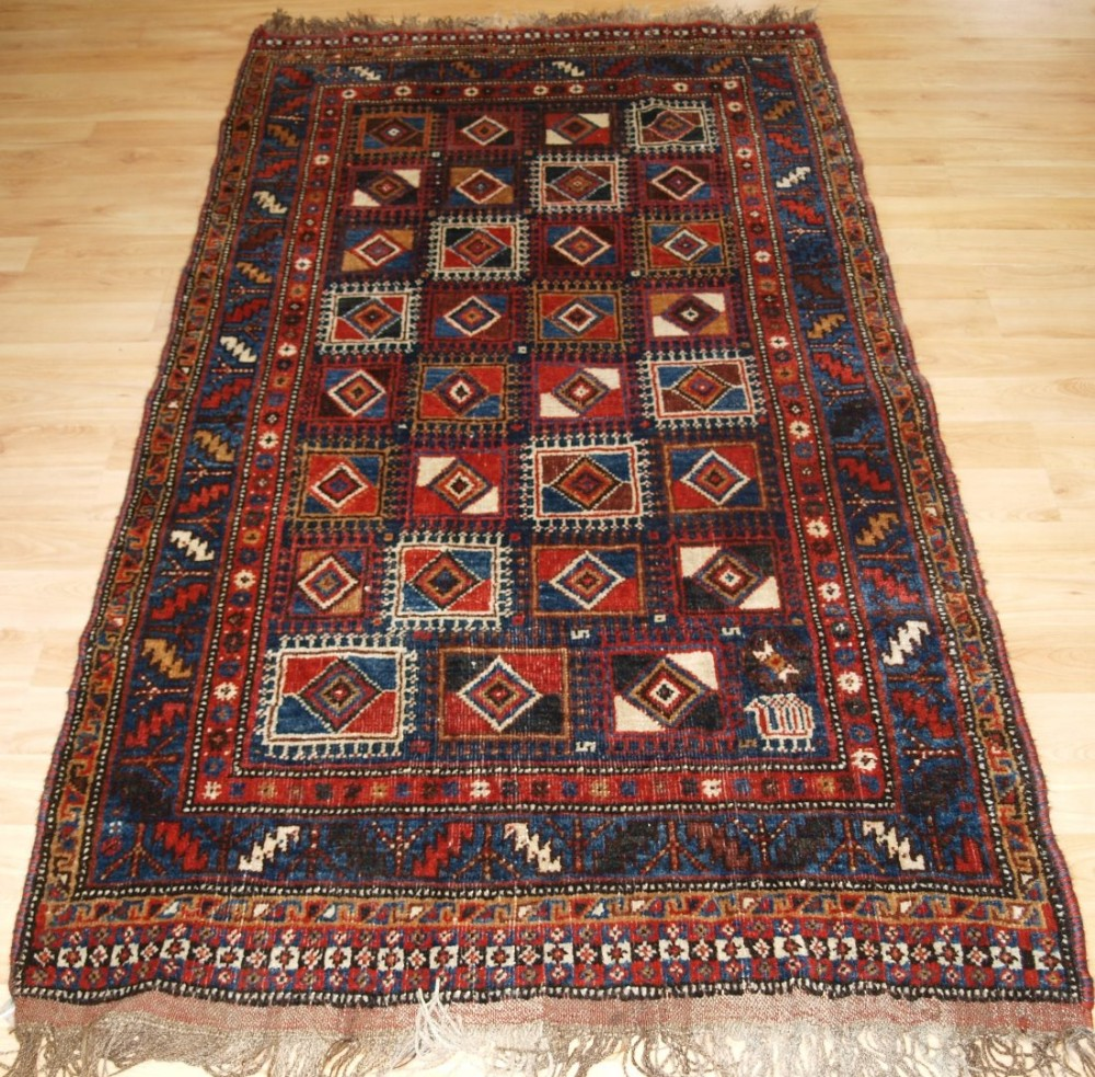 antique persian qashqai long rug very unususl design superb condition circa 190020