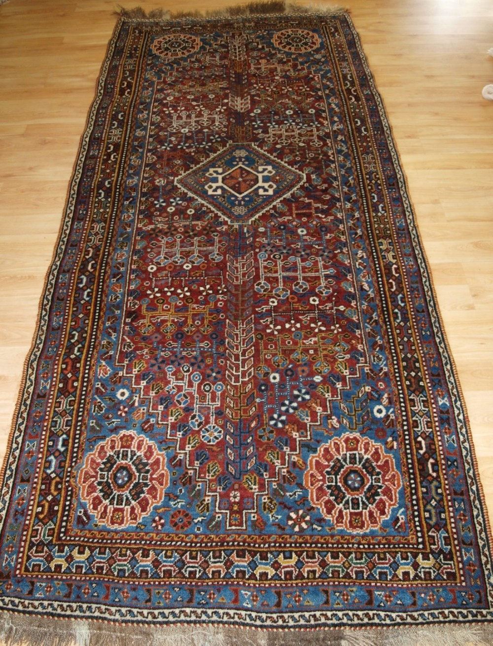 antique persian qashqai runner long rug tribal design superb condition circa 190020