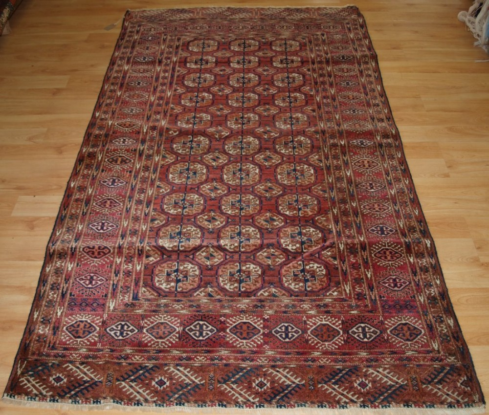 antique tekke turkmen rug excellent condition good size colour circa 1900