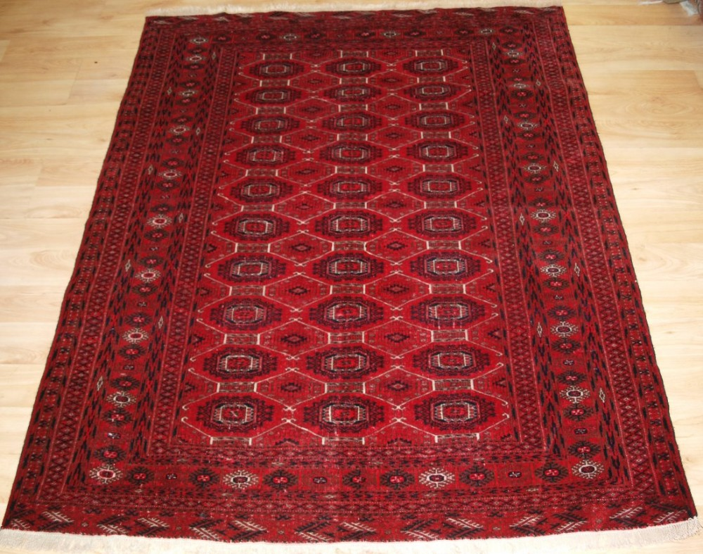 old yomut turkmen rug very fine weave detailed design great condition circa 192030