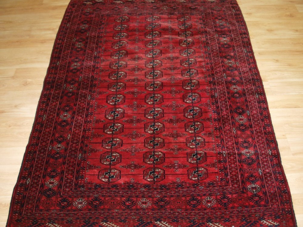 old tekke turkmen rug of fine weave and rich colour circa 1920