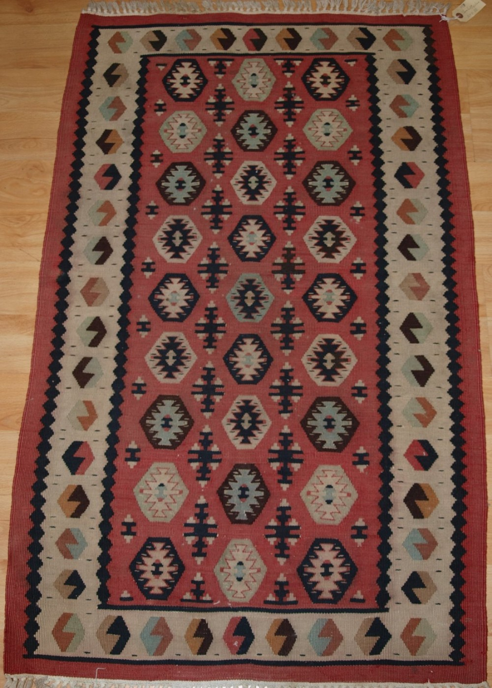 old turkish sharkoy kilim small size soft pink colour circa 192030