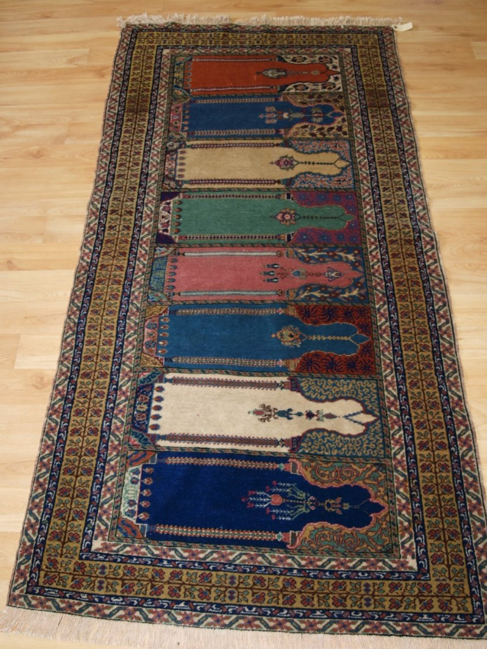 old turkish kayseri prayer rug in saf design circa 192030