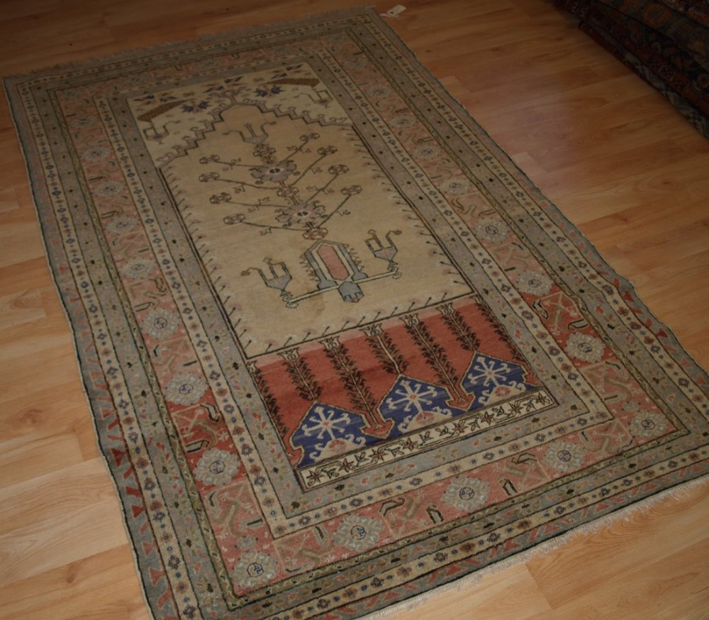 Antique Turkish Kayseri Prayer Rug, Ladik Prayer Design ...