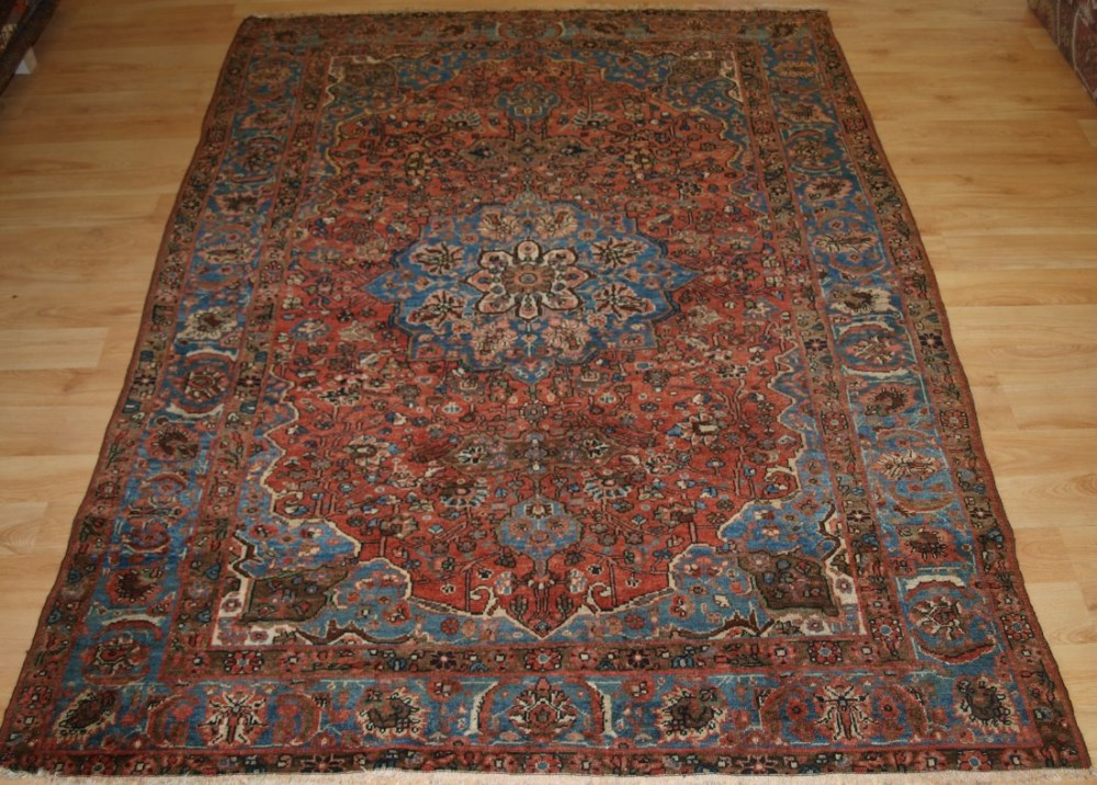antique persian village rug greater hamadan region beautiful design circa 190020