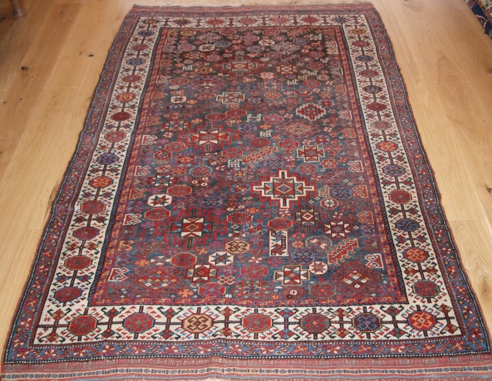 antique south west persian luri rug with shekarlu design circa 1900