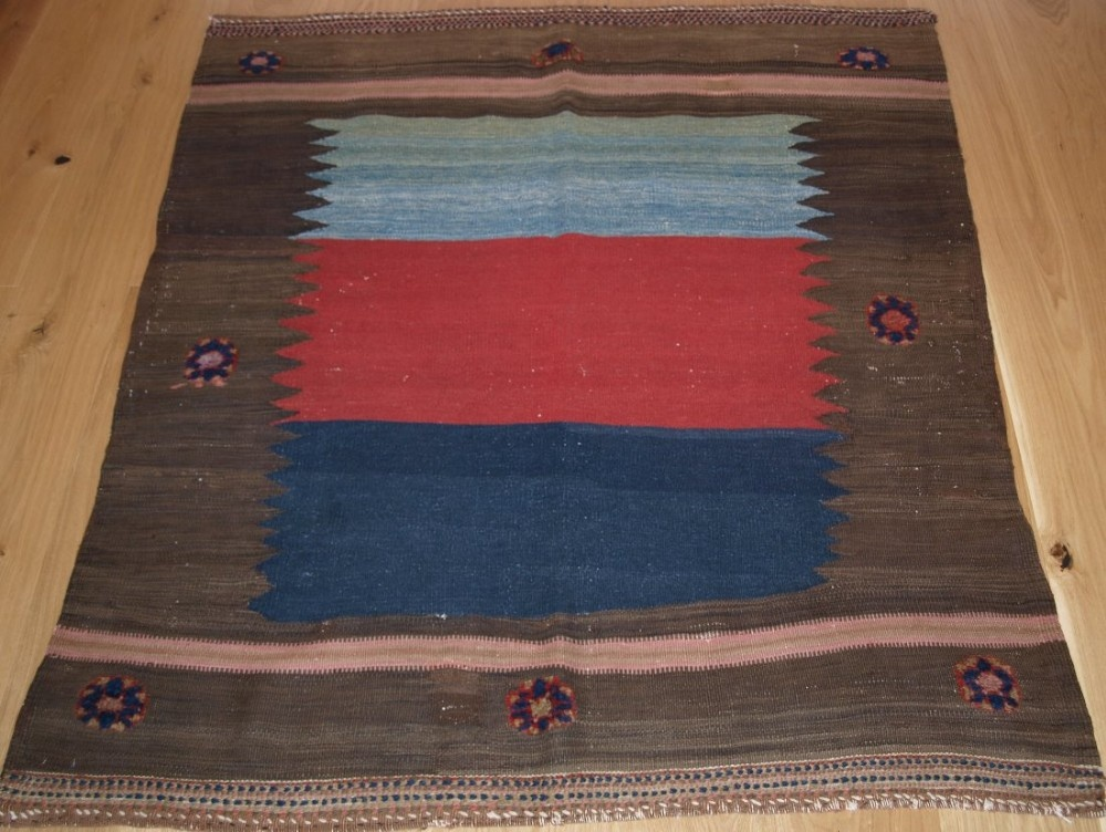 antique south persian afshar kilim sofreh with bold design and colour circa 190020