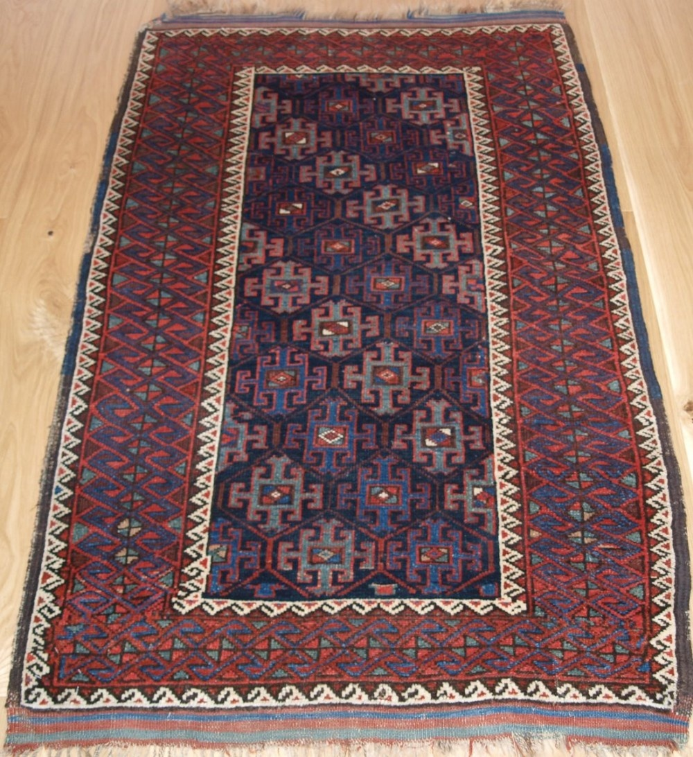antique east persian kordi rug with classic design and colour 4th quarter 19th century