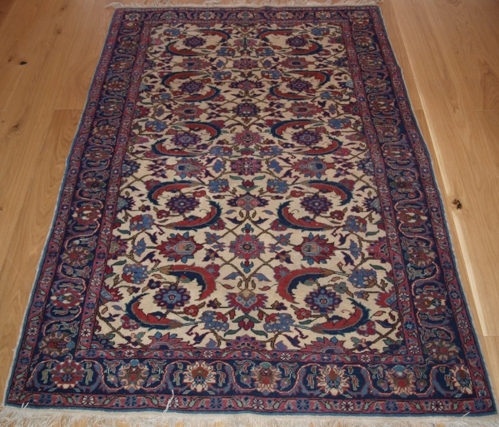 antique turkish kayseri rug with a large scale herati design circa 190020