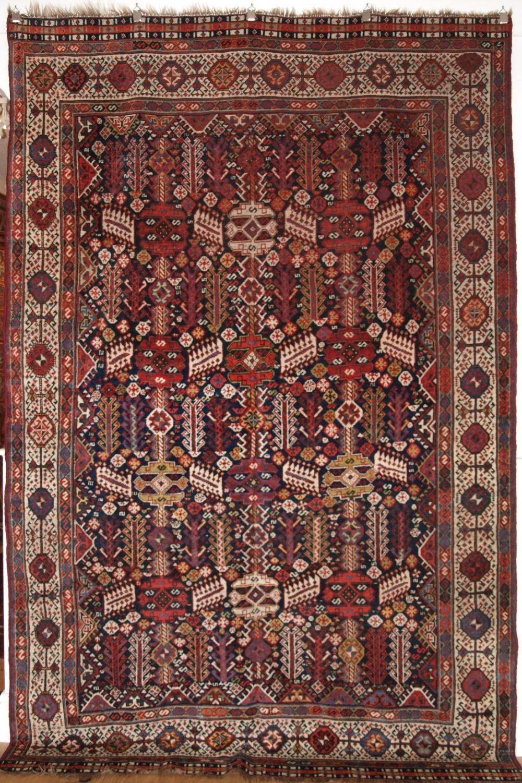 antique shekarlu qashqai rug classic design excellent condition circa 1900
