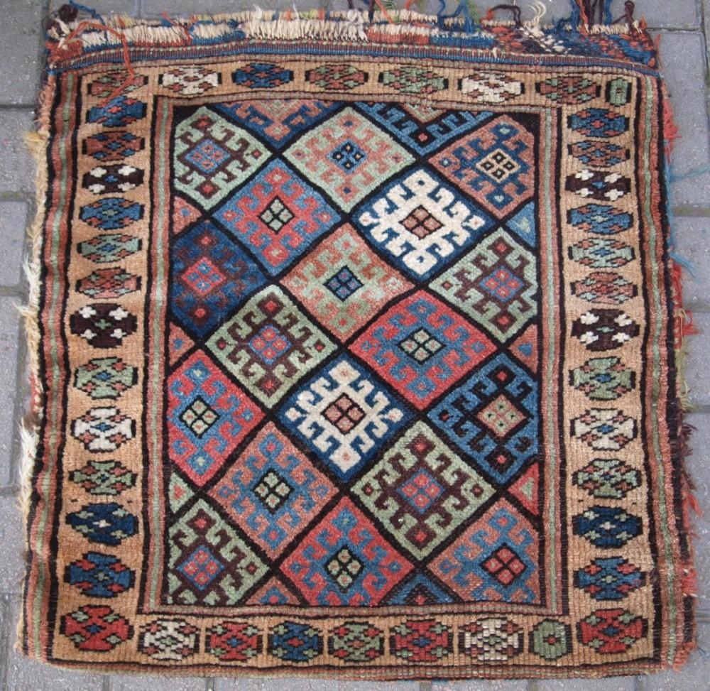antique jaf kurd bag complete with plain weave back circa 1900