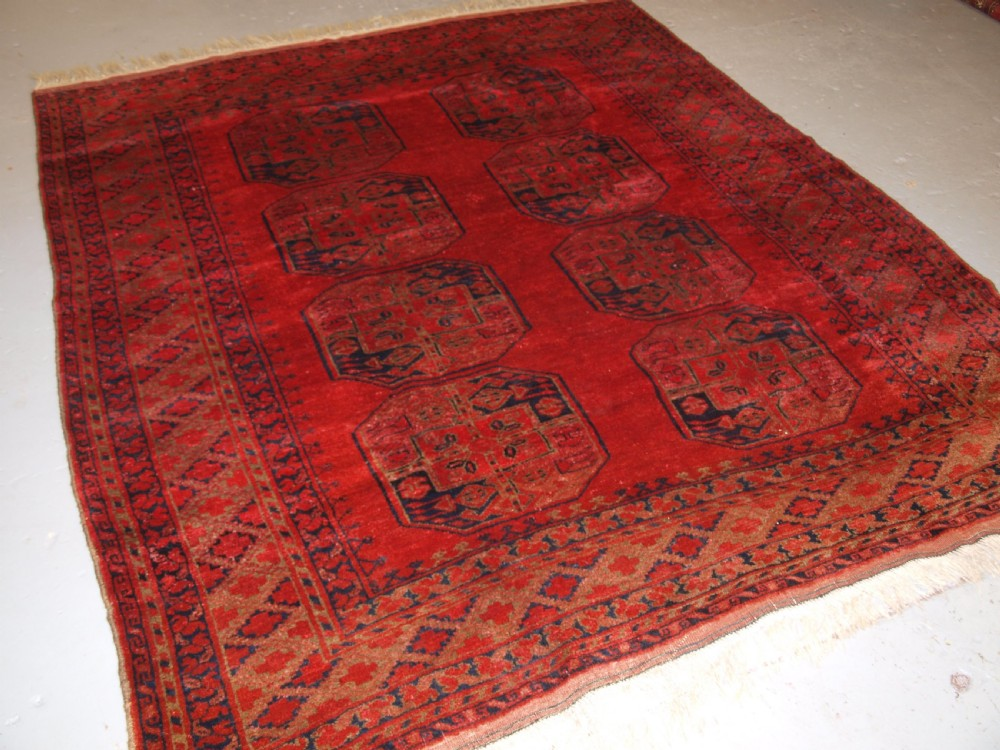 antique afghan village rug ersari weavers superb colour and soft wool circa 1900
