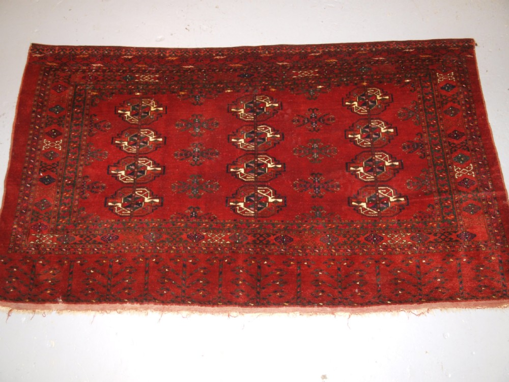 antique ersari turkmen 12 gul chuval of very large size circa 1900