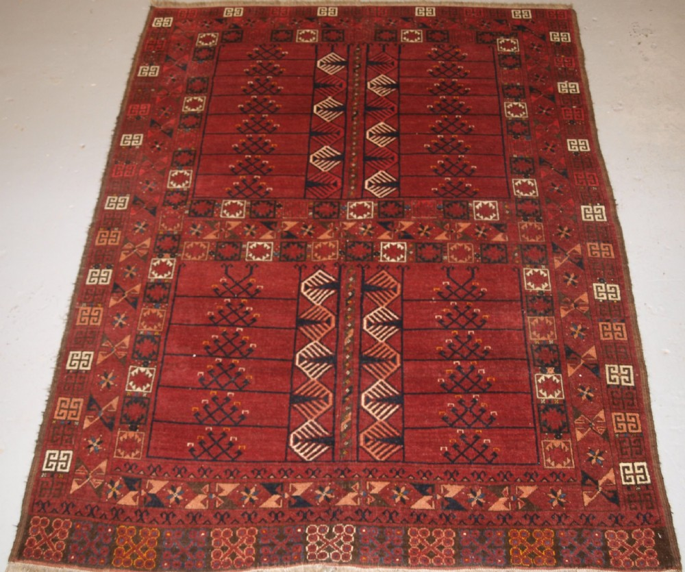 antique ersari turkmen ensi good colour traditional design circa 1880