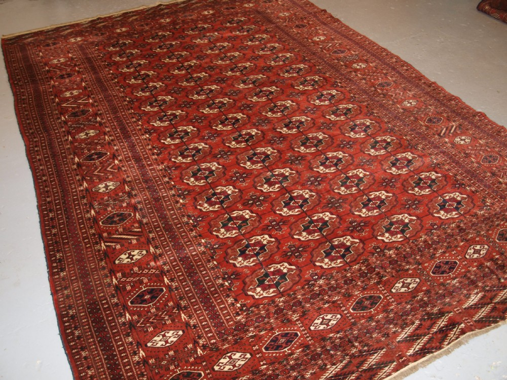 antique tekke turkmen main carpet excellent furnishing carpet circa 1900