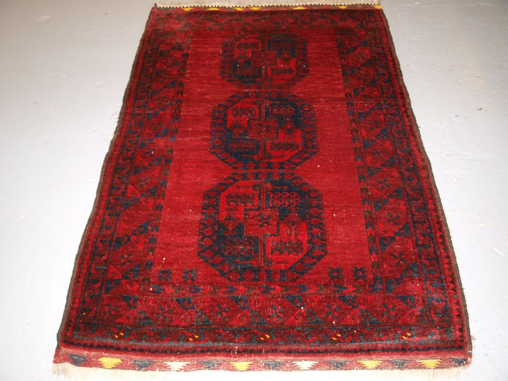 old afghan village rug northern afghanistan very soft wool circa 1920