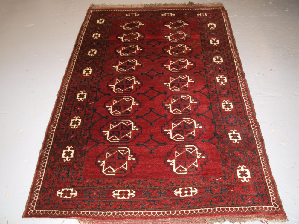 old afghan ersari kizil ayak turkmen rug great colour circa 1920