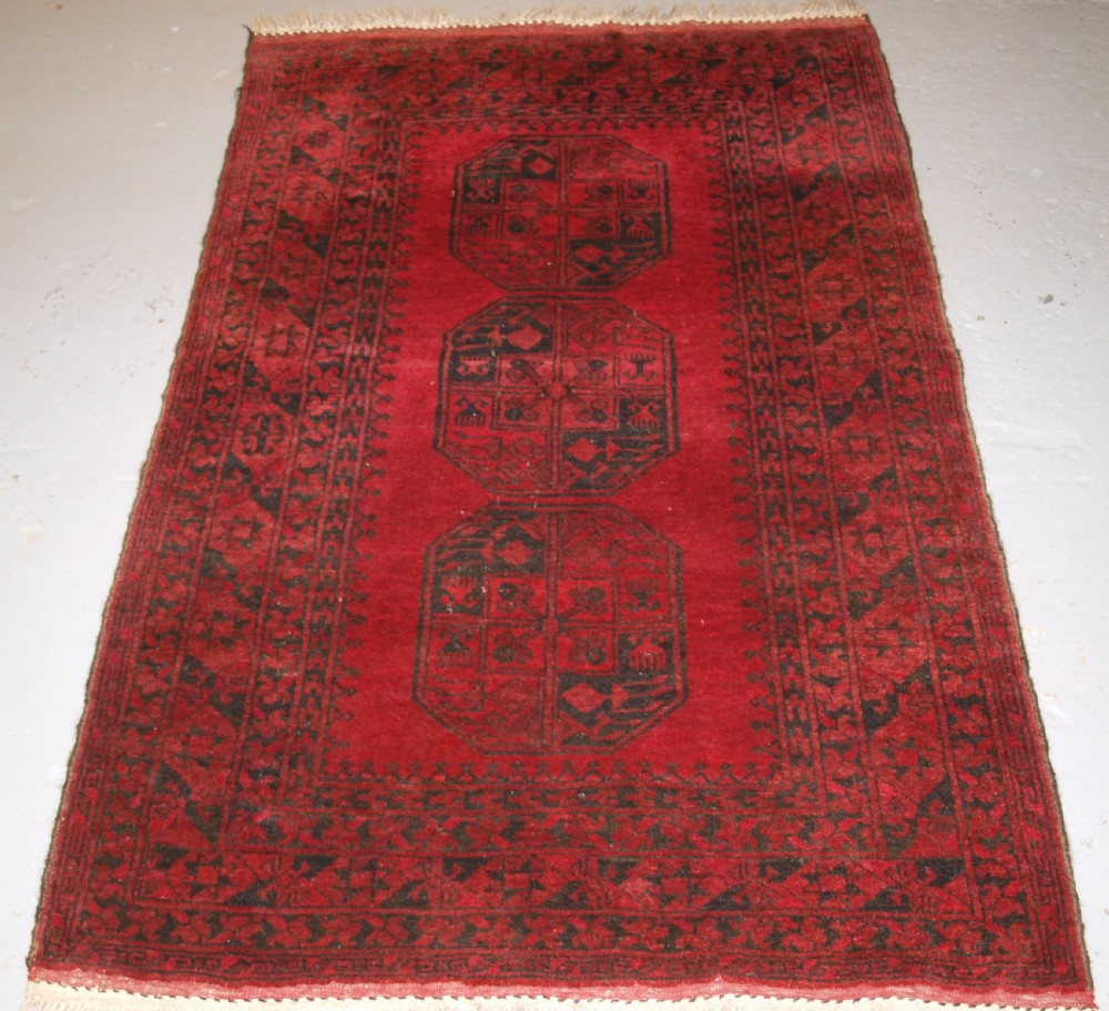 old afghan village rug very hard wearing good colour circa 1900