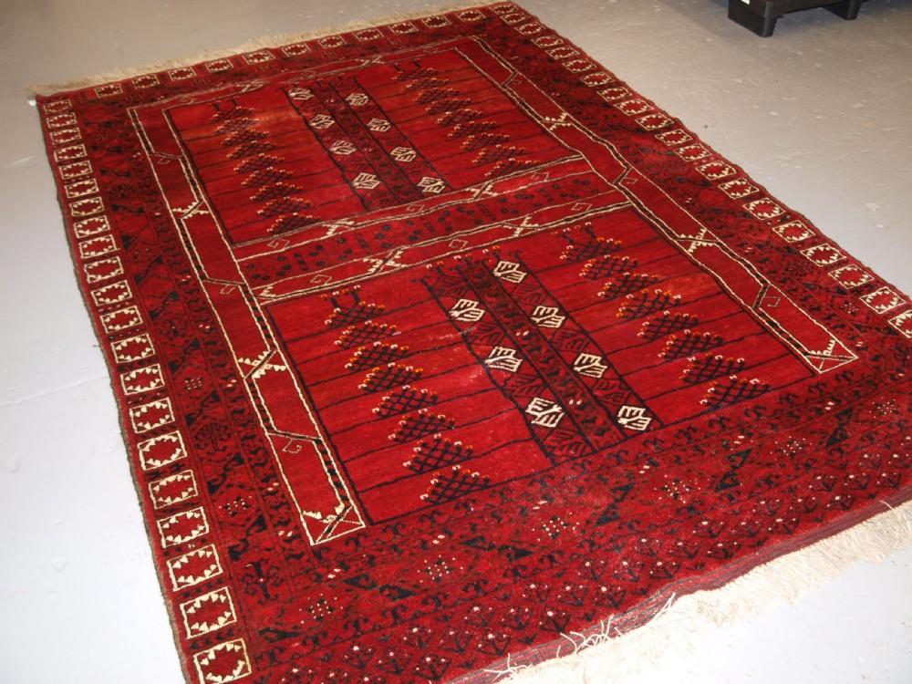 old afghan ensi design rug superb colour great furnishing rug circa 1920