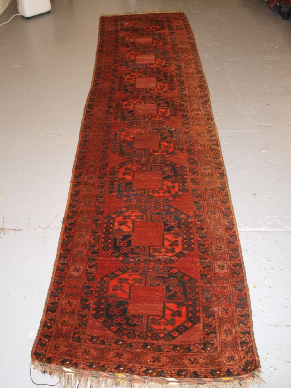 old afghan runner traditional design very hard wearing circa 1920