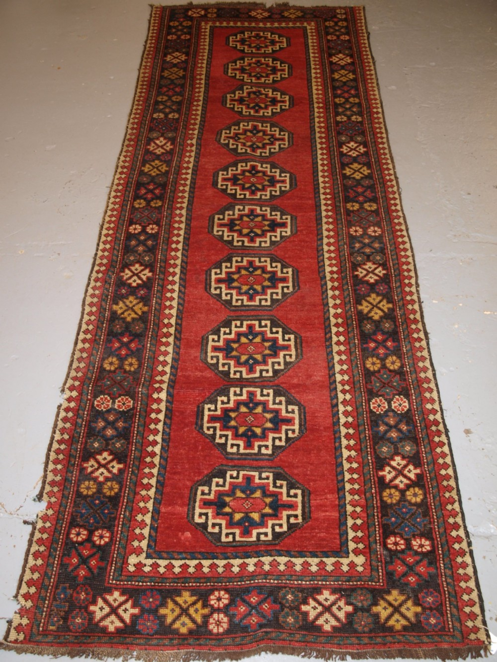 antique persian kelardasht runner of classic design circa 1900