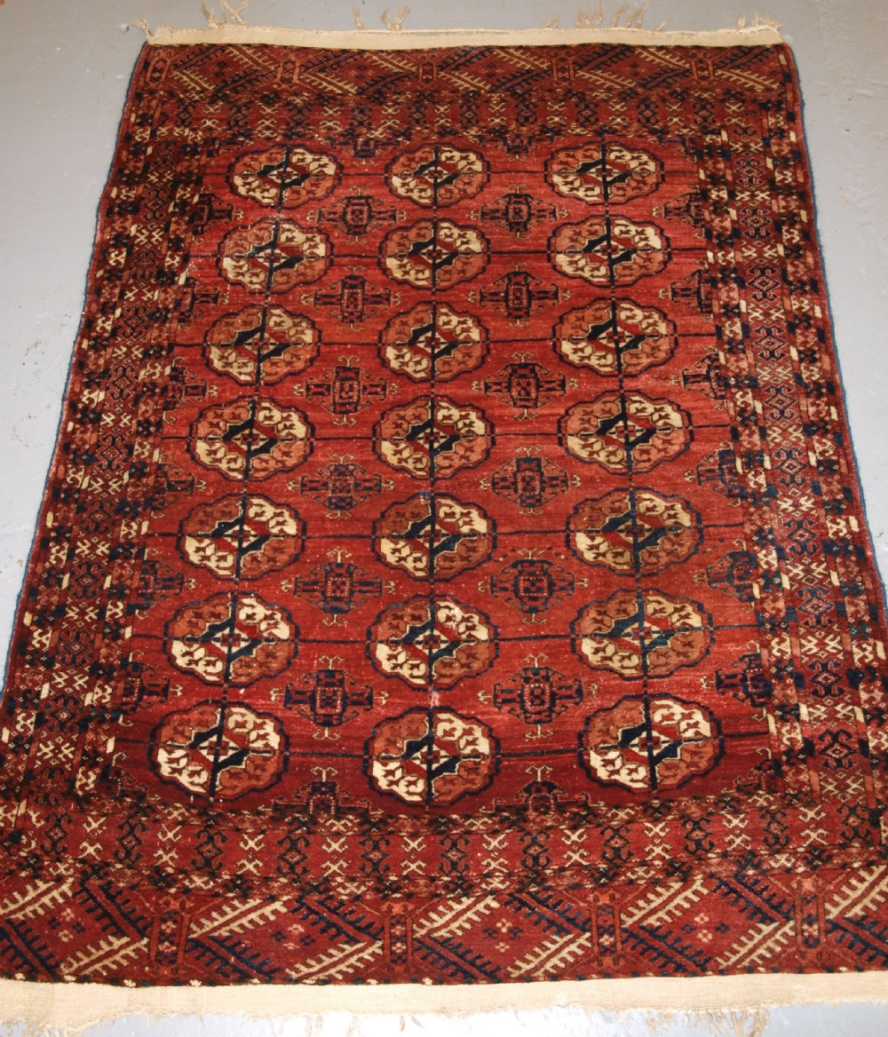 antique tekke turkmen dowry rug of small size very soft wool 4th quarter 19th century