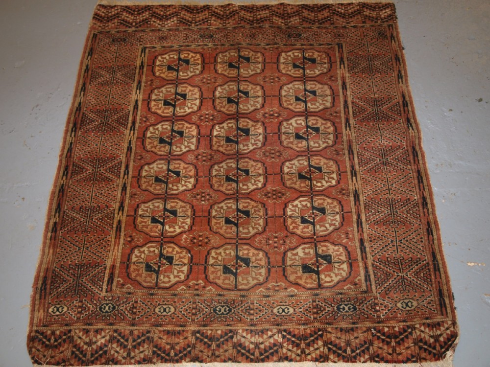 antique tekke turkmen dowry rug of small size late 19th century