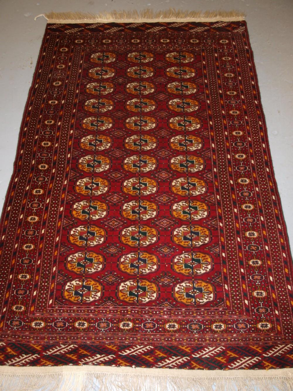 old afghan rug with tekke turkmen design fine weave circa 1920