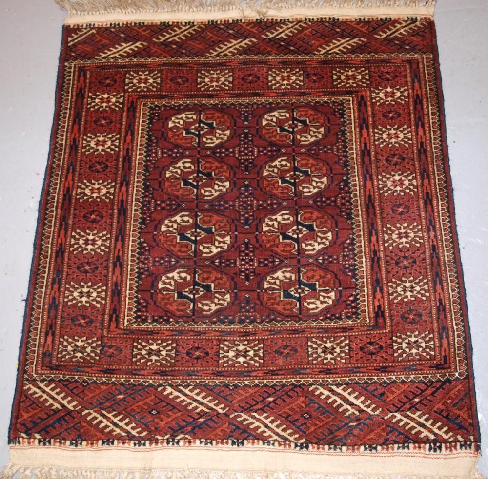 old tekke turkmen rug of very small size excellent condition circa 190020