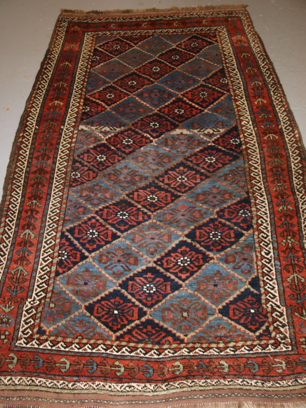 antique kordi rug kurds of khorassan light blue ground circa 1900