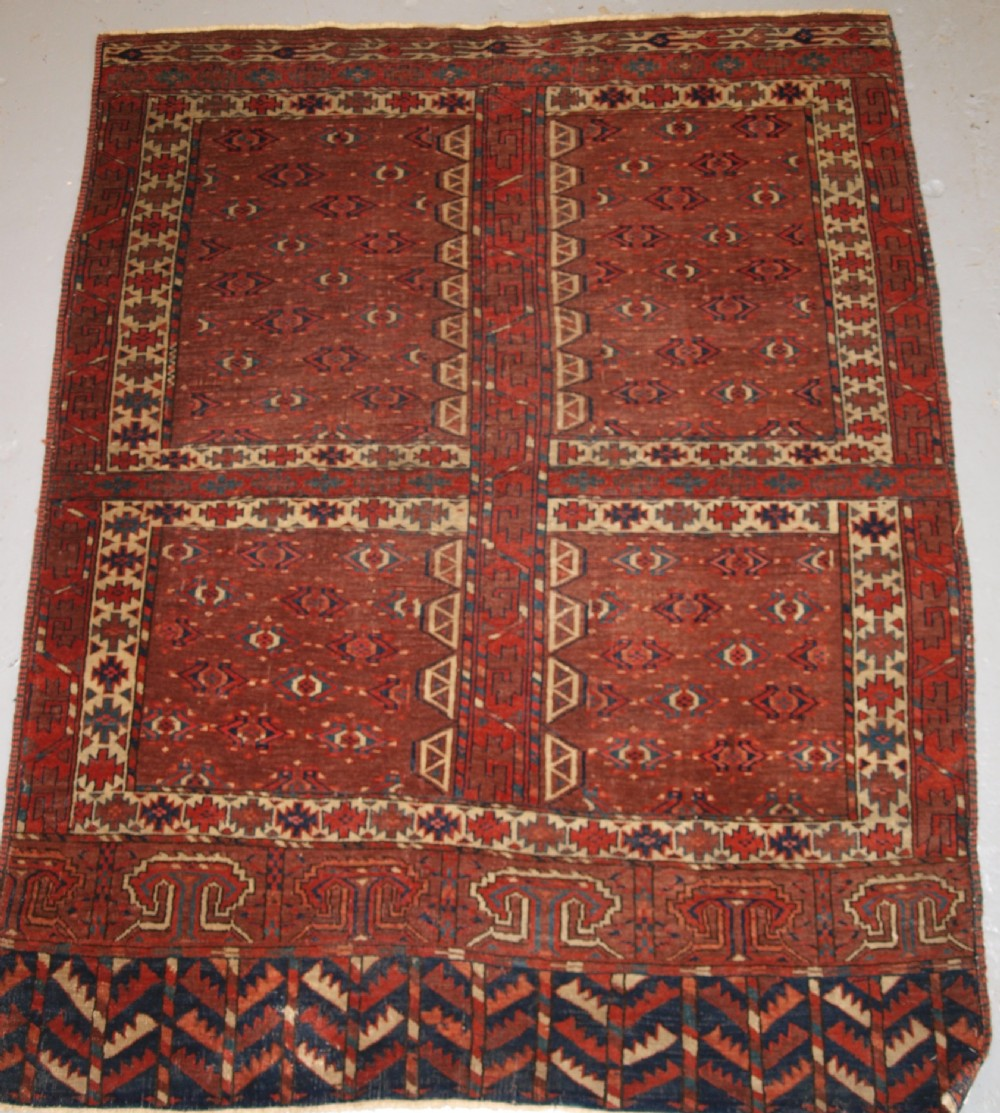 antique yomut turkmen ensi yurt door hanging 2nd half 19th century