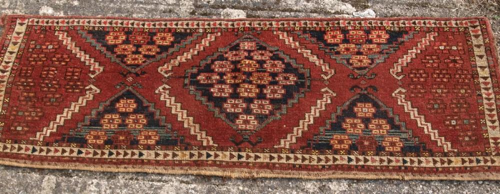 antique ersari turkmen torba of scarce design 2nd half 19th century