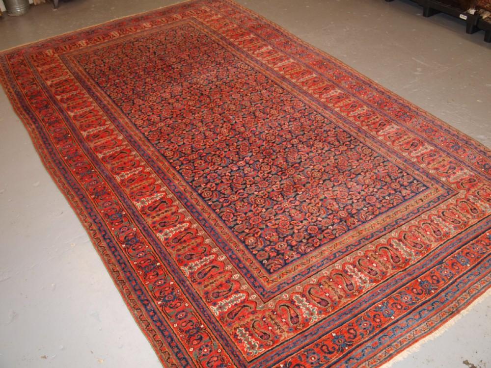 antique persian doroksh carpet superb soft wool great colours circa 1880