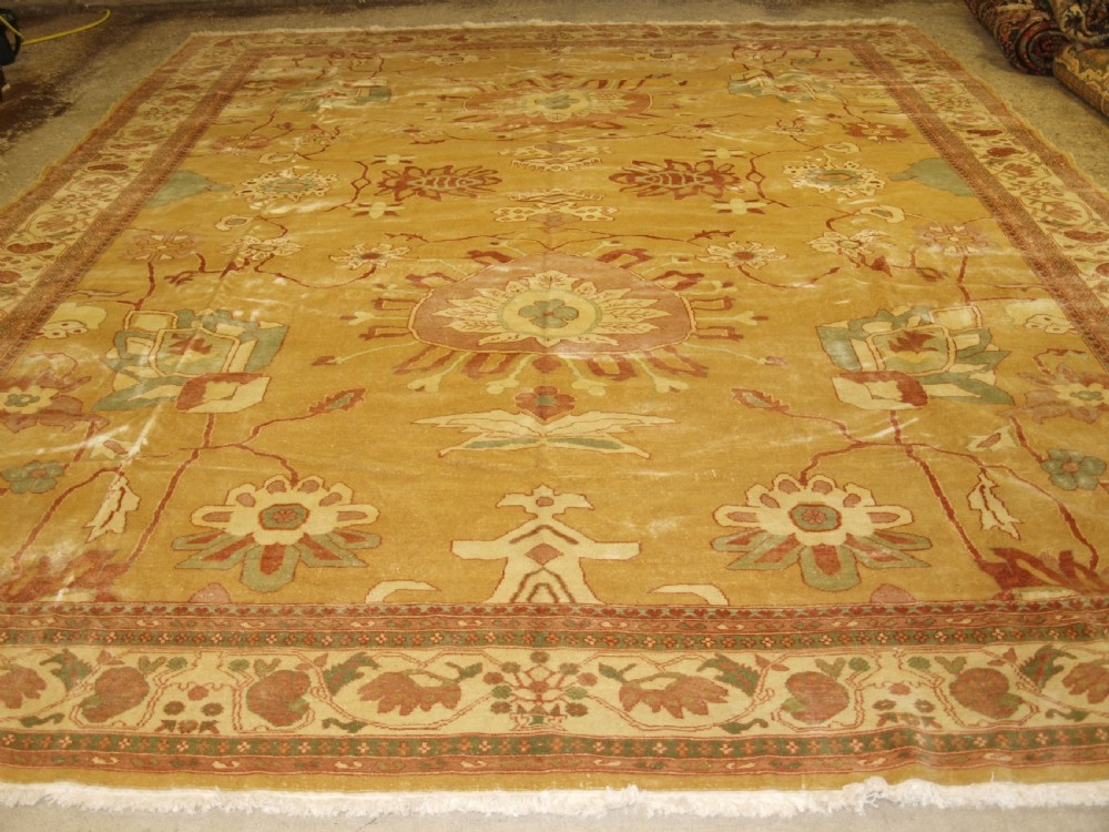 persian ziegler design carpet high quality modern egyptian production superb colour about 20 years old large square size