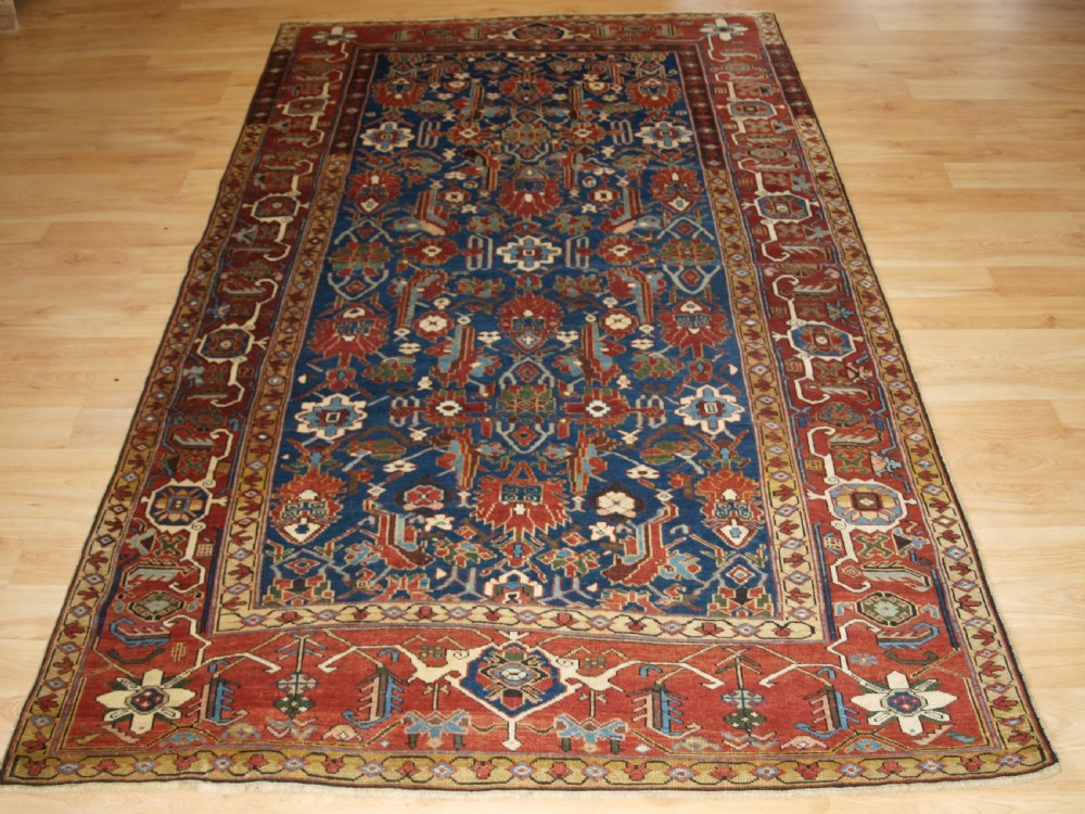 antique caucasian shirvan rug with unusual north west persian design circa 1900
