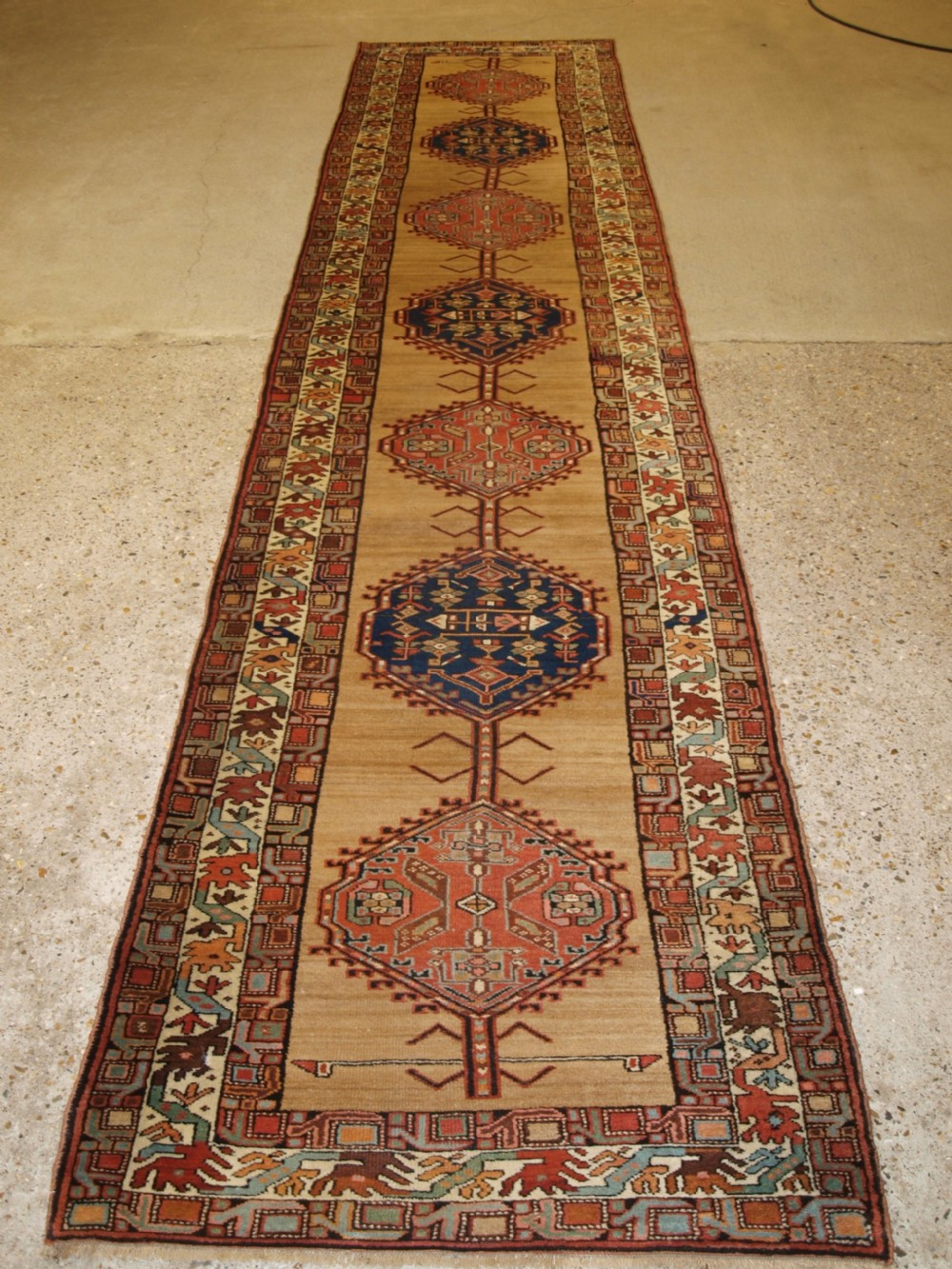antique persian sarab runner camel ground with good colour circa 1900