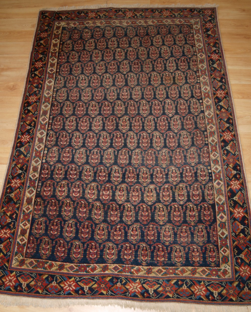 antique south persian afshar rug with all over boteh design beautiful border circa 1900