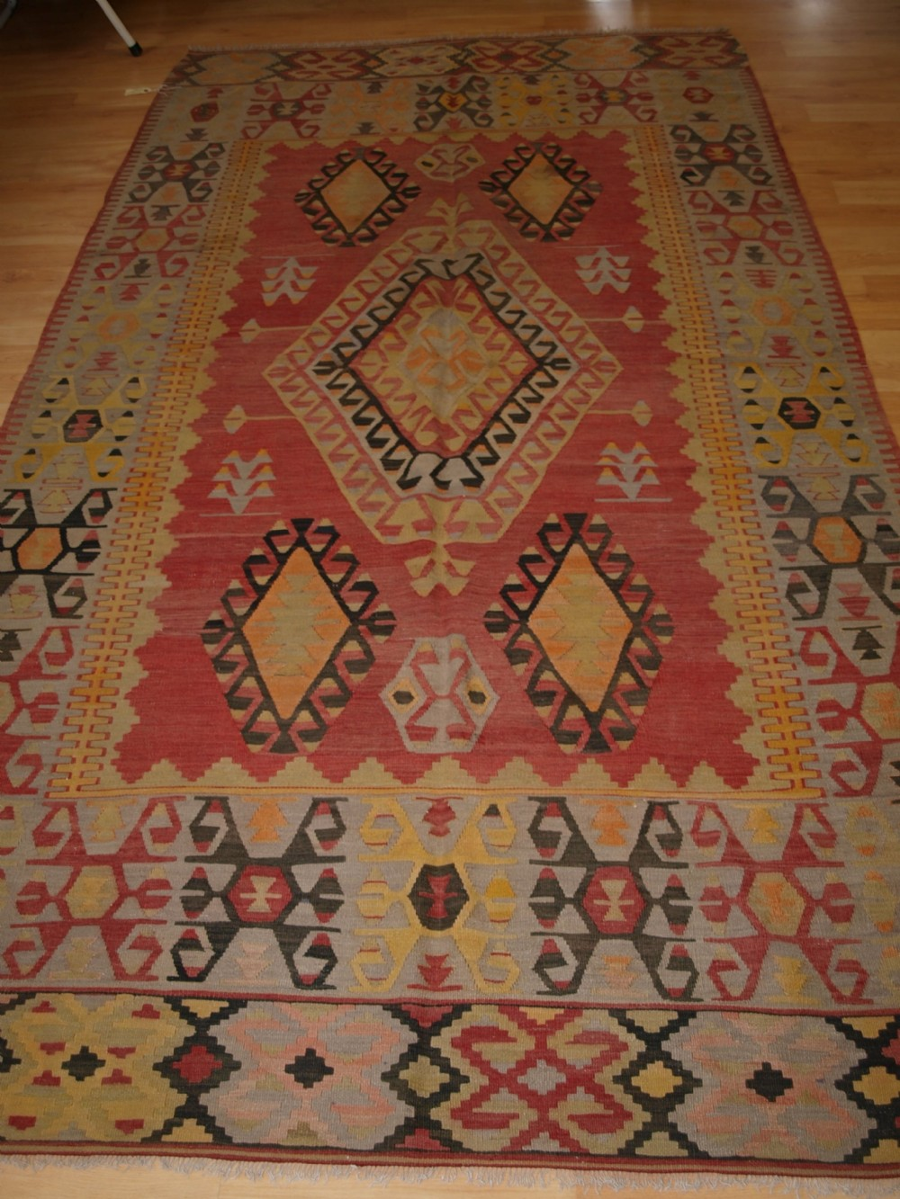 old turkish konya region kilim of large size soft colours superb condition circa 1920