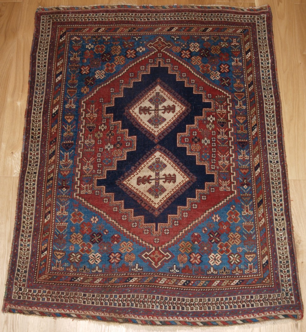 antique persian afshar rug of classic design small size with great colour late 19th century